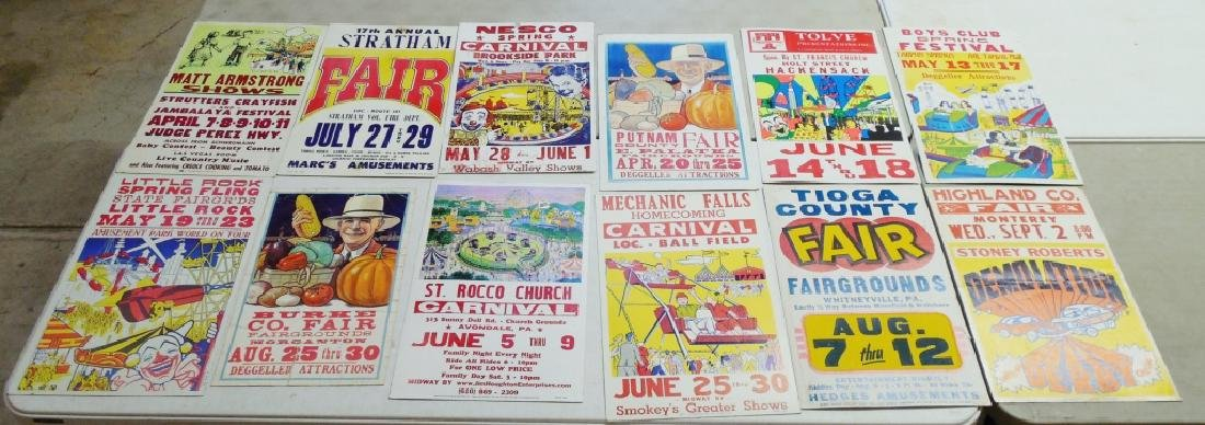 Lot of 12 Carnival, Festival, Fair, Derby Posters