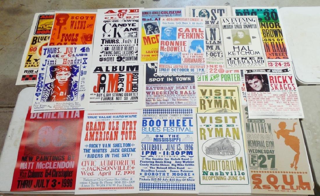 Lot of 20 Concert, Festival, Dance, Etc Posters