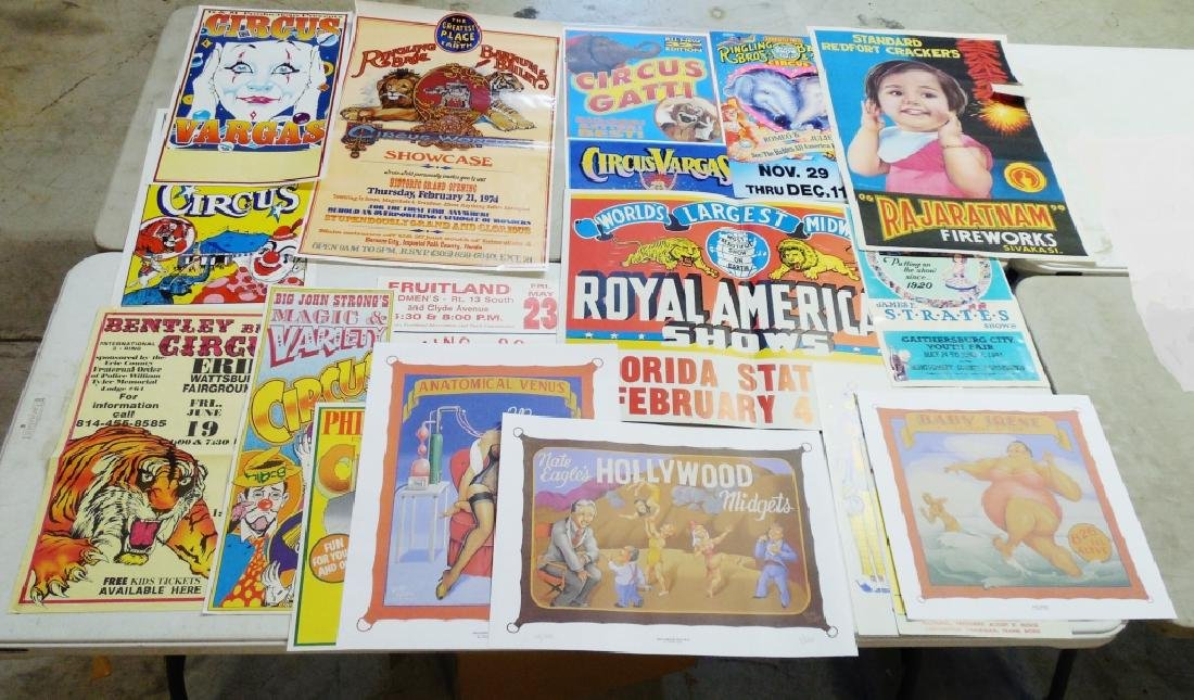 Lot of 15 + Circus and Other Posters