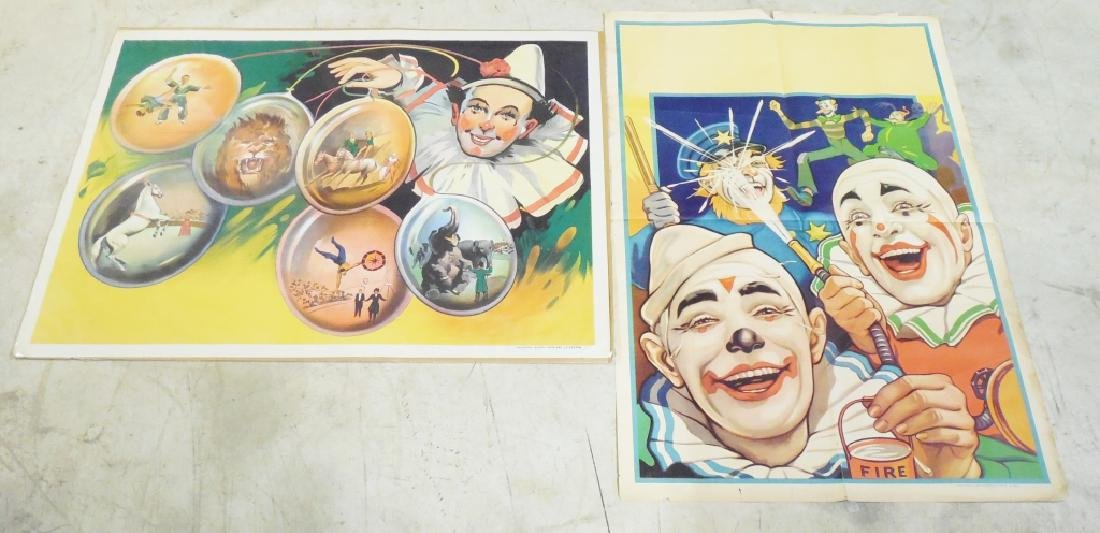 Lot of 2 Large Circus Posters