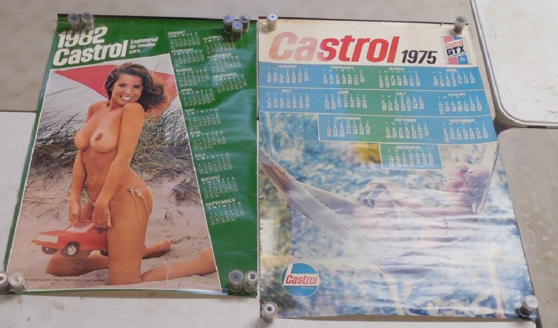 Lot of 2 Castrol Calendars 1975 and 1982