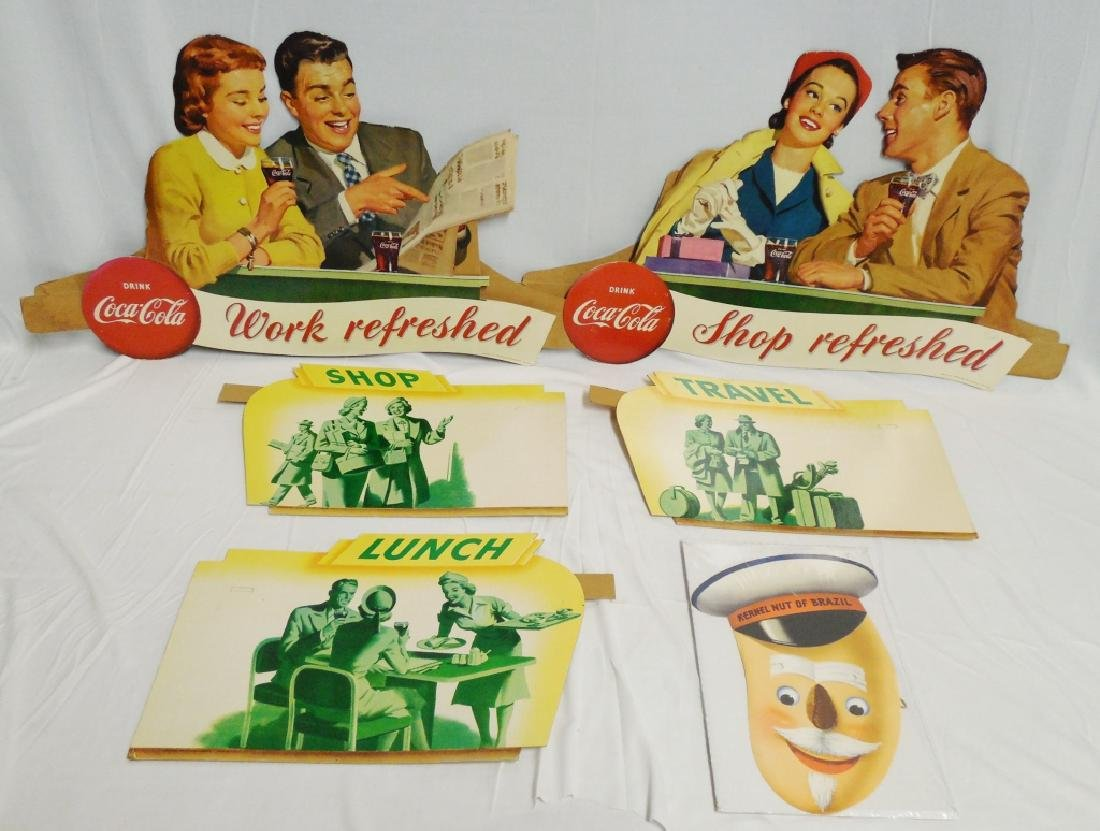 Lot of 6 Die Cut Advertisements