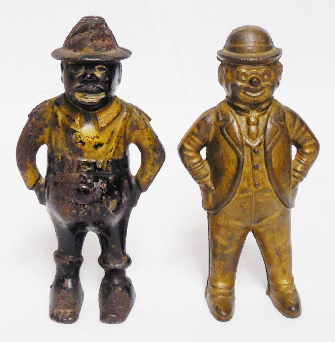 Lot of 2 Cast Iron Banks Figural