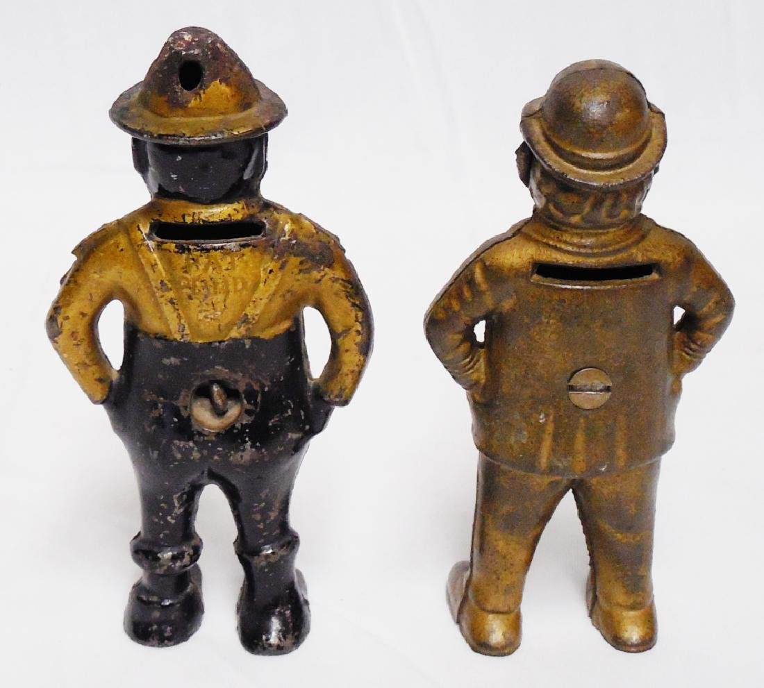 Lot of 2 Cast Iron Banks Figural - 2