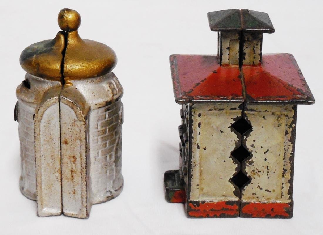 Lot of 2 Cast Iron Bank Banks - 4