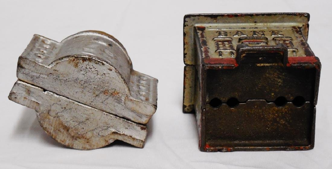 Lot of 2 Cast Iron Bank Banks - 5