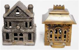 Lot of 2 Cast Iron Bank Banks