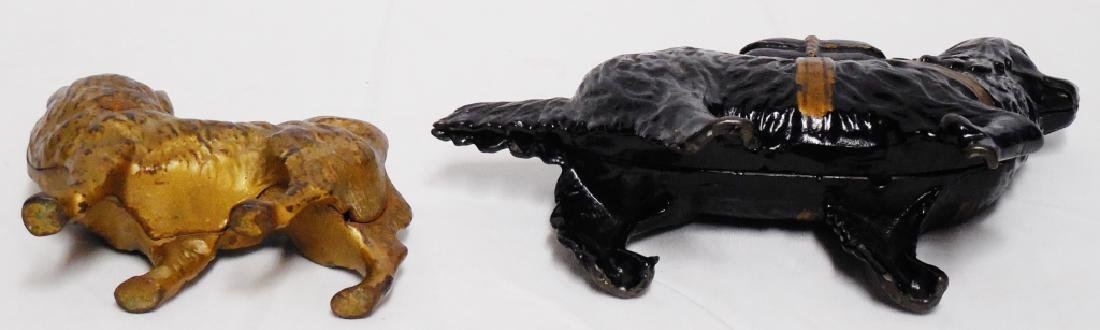 Lot of 2 Cast Iron Banks Dogs - 3