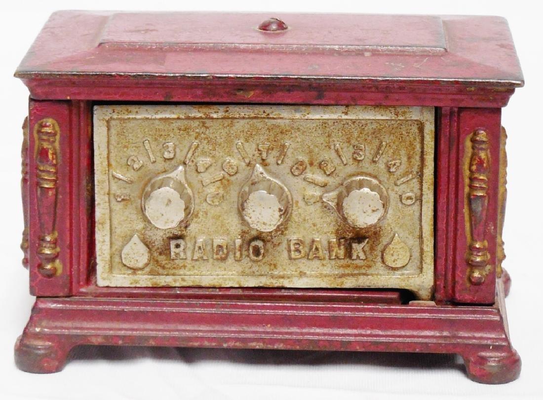 Cast Iron Radio Bank By Kenton Toys