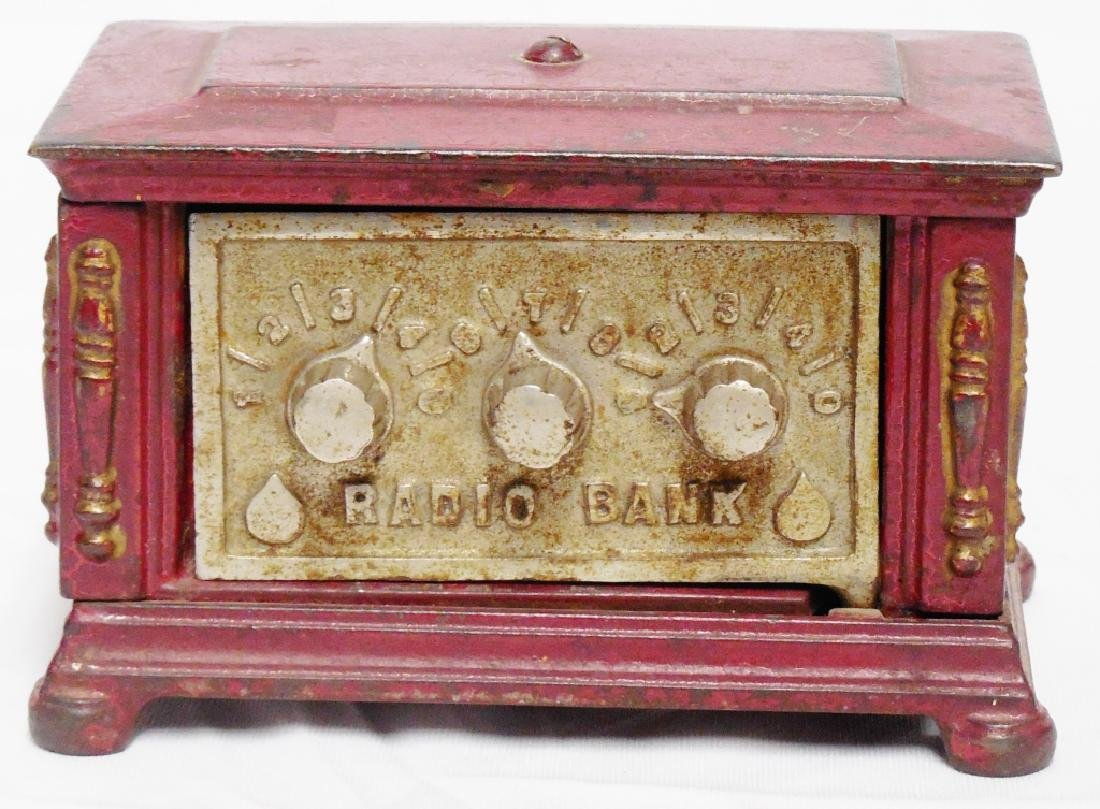 Cast Iron Radio Bank By Kenton Toys