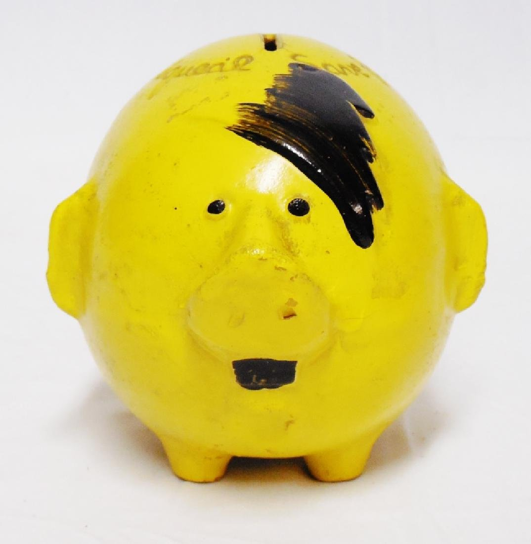 Wooden Pig Anti-Hitler Bank