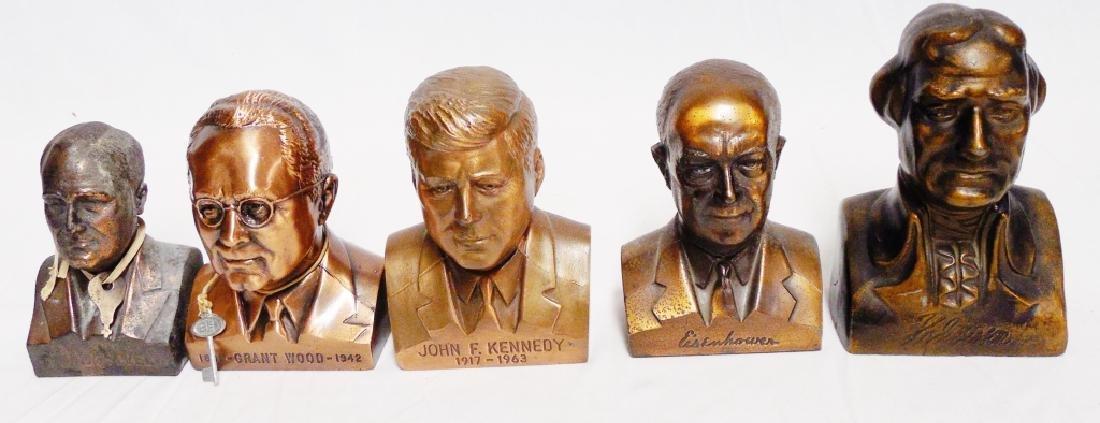 Lot of 5 Metal US President Banks
