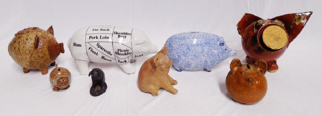 Lot of 8 Assorted Pig Banks