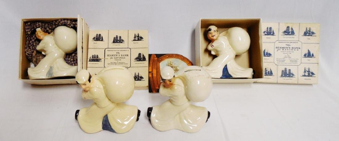 Lot of 4 Jolly Sailor Coin Banks