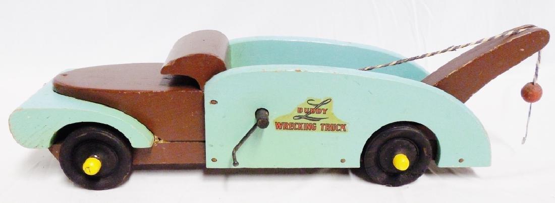 Lot of 2 Buddy L Wooden Trucks - 2