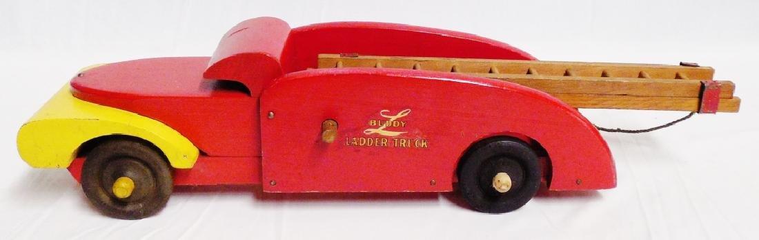 Lot of 2 Buddy L Wooden Trucks - 3