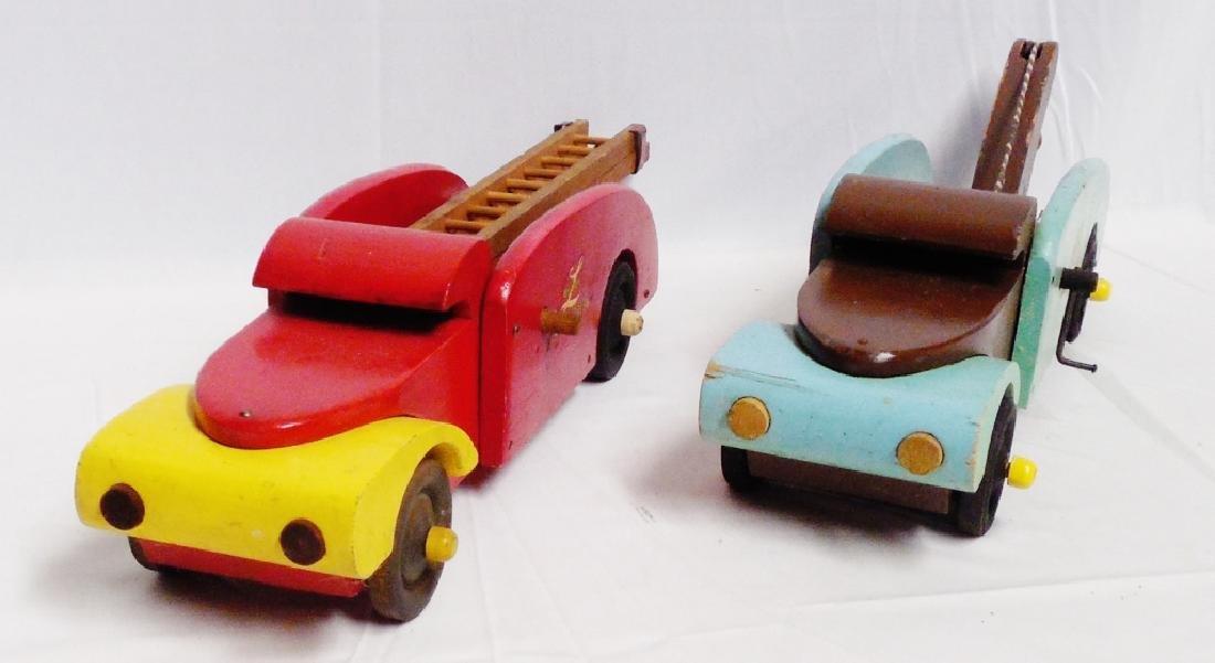 Lot of 2 Buddy L Wooden Trucks - 4