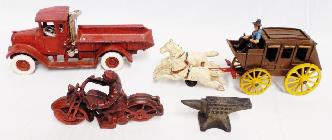Lot of 4 Reproduction Cast Iron Toys