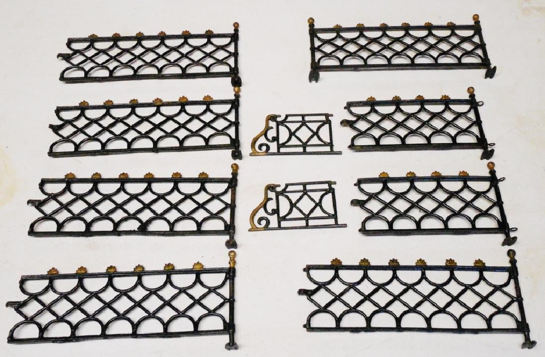 Lot of Cast Iron Decorative Interlocking Fence Pcs