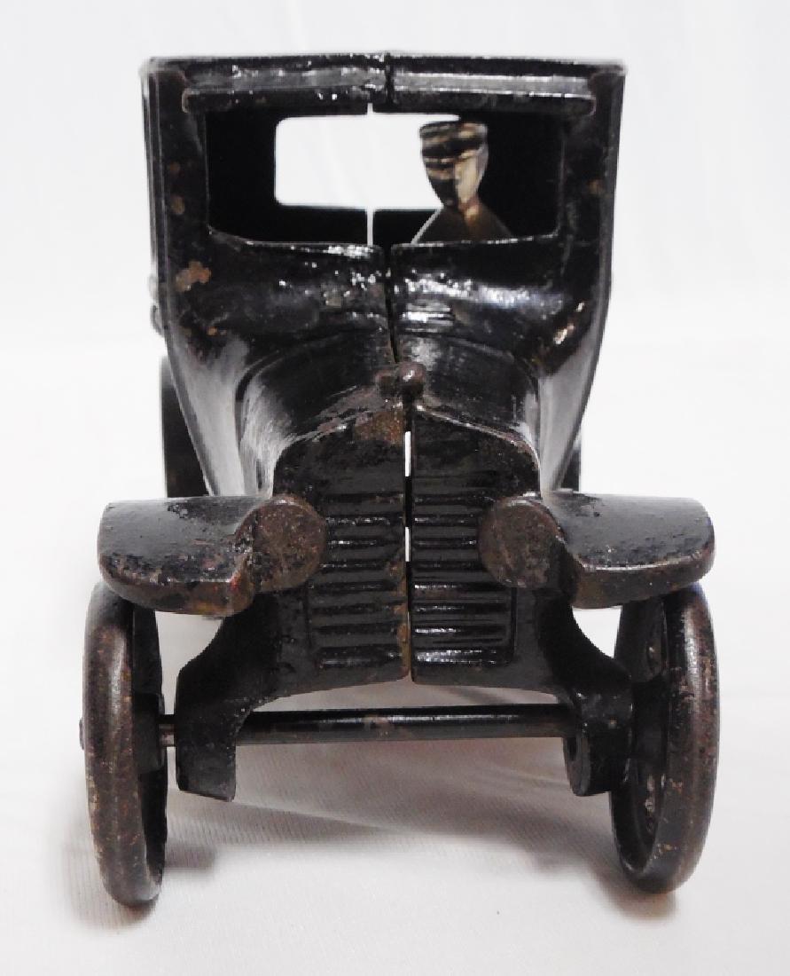 Arcade Cast Iron Car with Man - 2