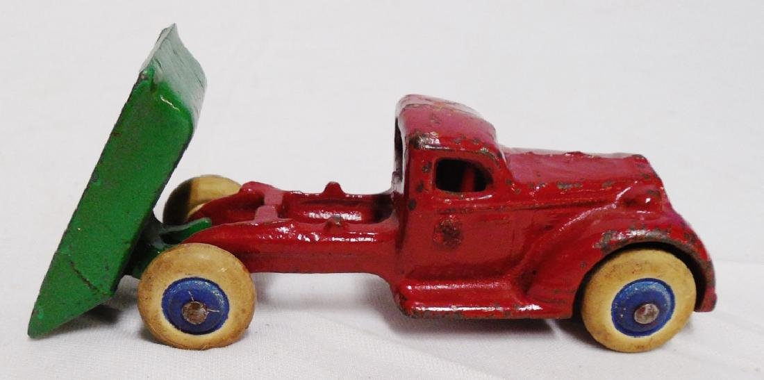 Cast Iron Dump Truck with Rubber Wheels - 2