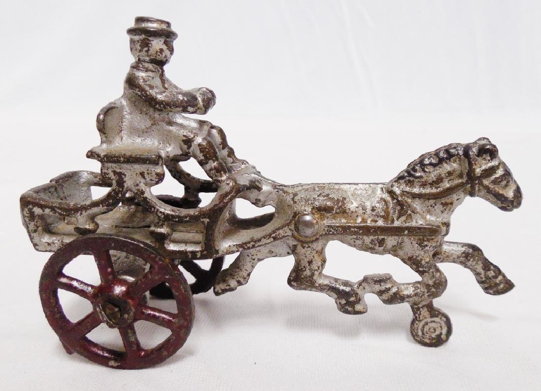 Lot of 2 Cast Iron Horse Drawn Carriages - 3