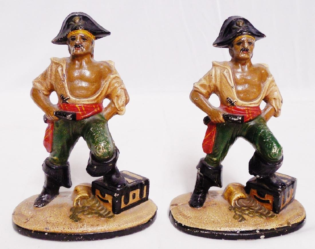 Pair of Cast Iron Pirate Bookends