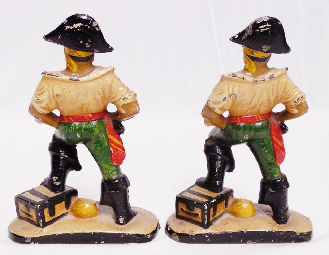 Pair of Cast Iron Pirate Bookends - 2