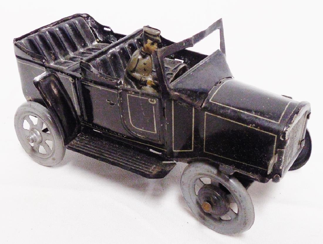 Tin Windup Car with Driver Made In Germany