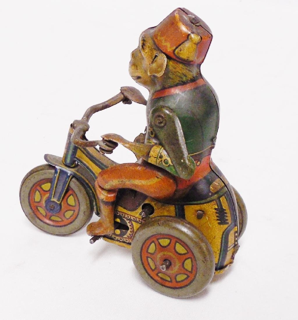 """Tin Monkey on Tricycle """"Made in Germany US Zone"""" - 2"""