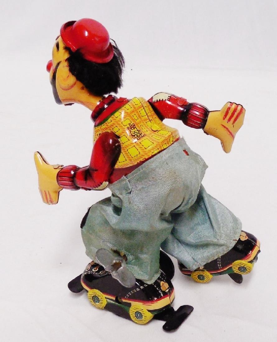 Tin Windup Clown Roller Skater - 2