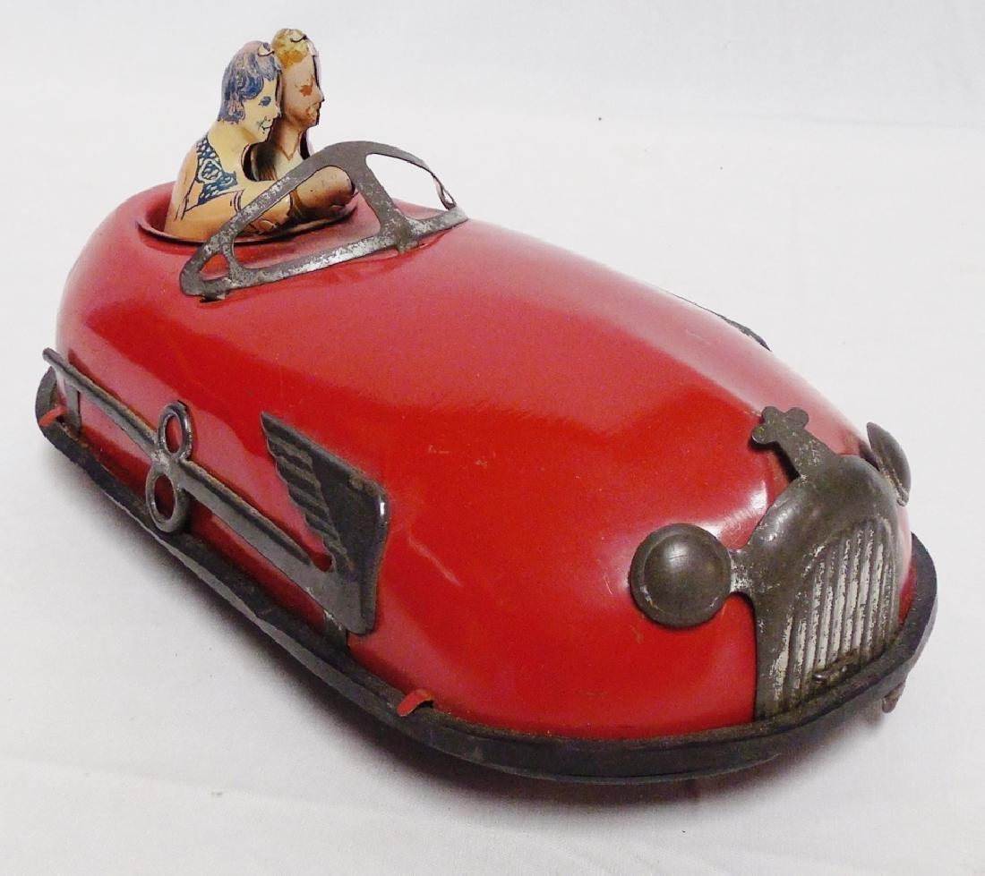 Tin Windup Bumber Car with Riders