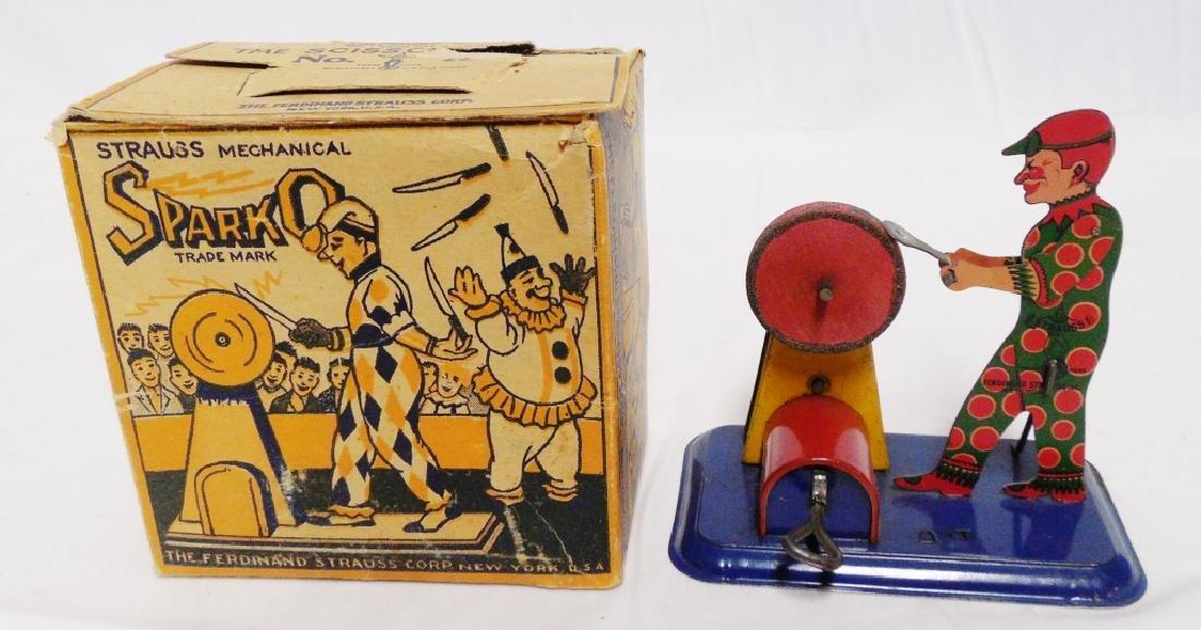 """SparkO"" Strauss Mechanical Tin Windup"