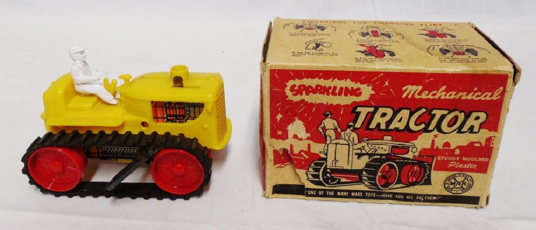 """Marx """"Mechanical Tractor"""" with Man"""