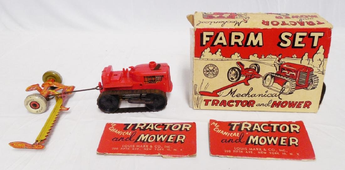 Marx Mechanical Tractor and Mower