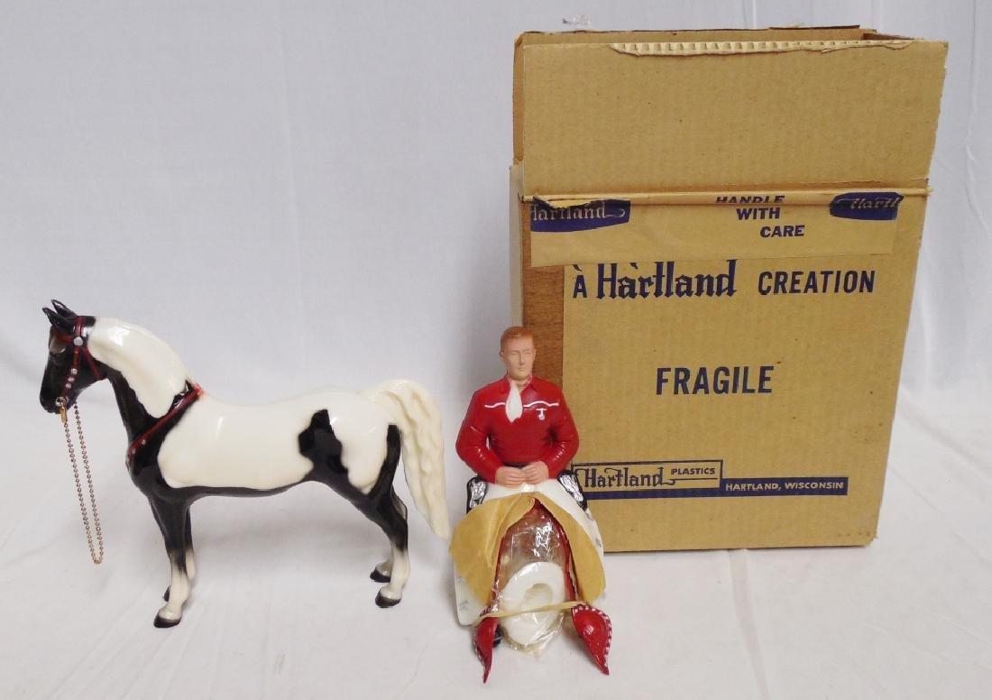 """Cowboy and Horse"" 801 BKP By Hartland Plastics"