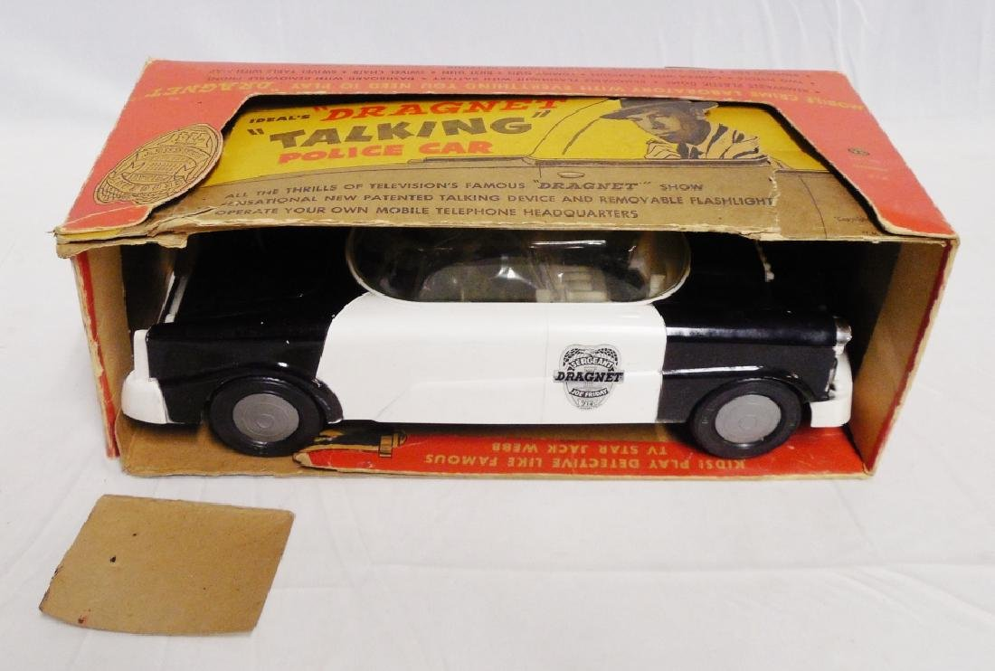 """Ideal's Dragnet Talking Police Car"" with Box"
