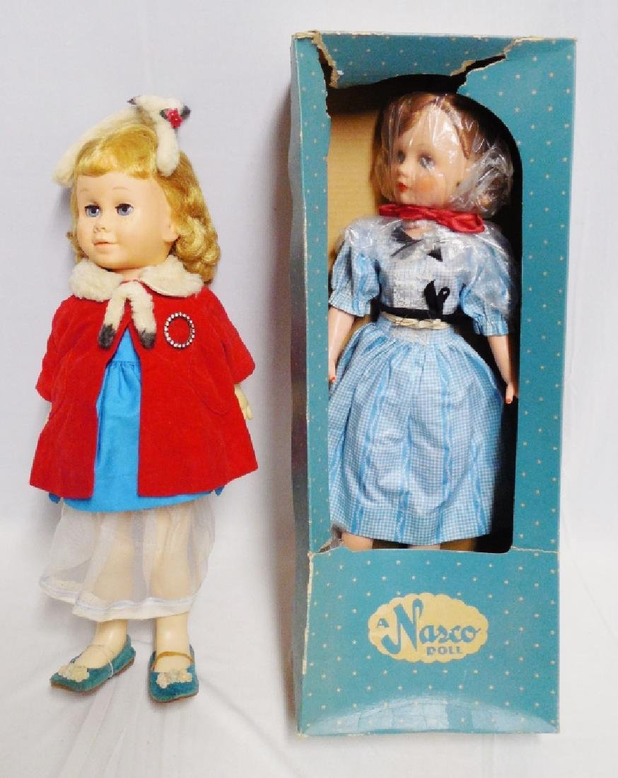 """A Nasco Doll"" and Pull-String Doll"
