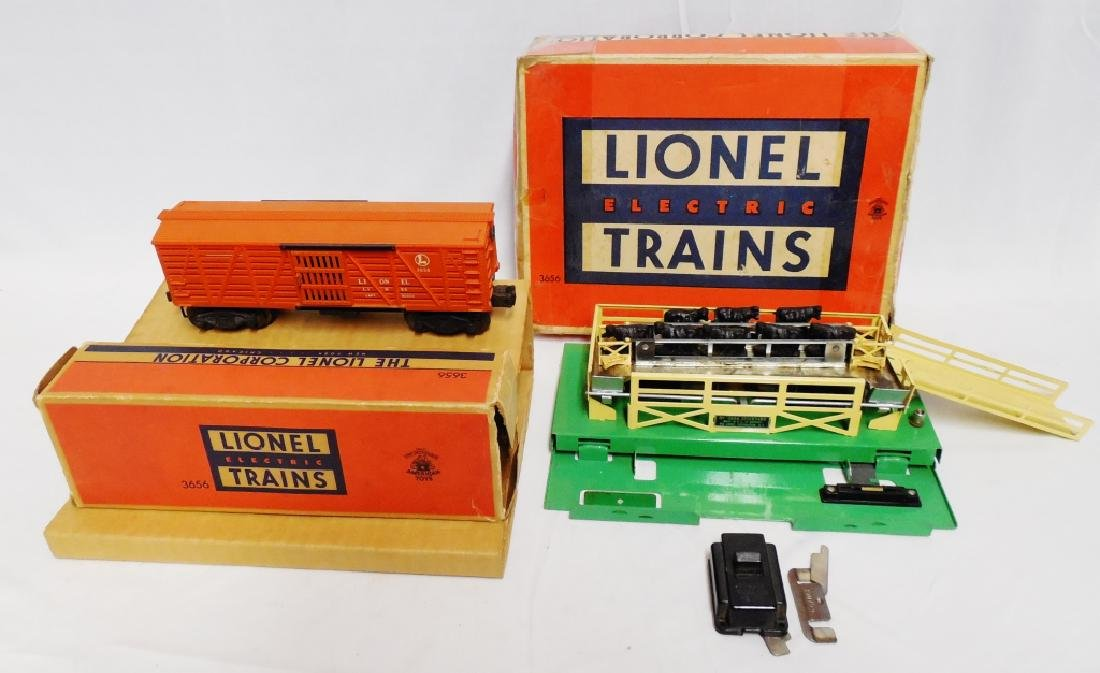 Lionel No 3656 Operating Cattle Car