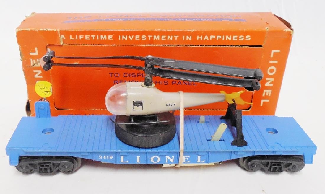 Lionel No 3419 Opeating Helicopter Car