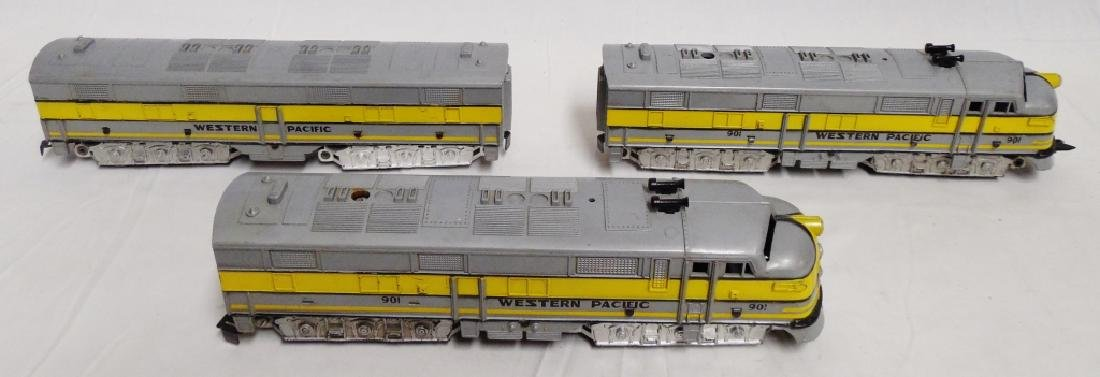Lot of 3 Western Pacific Trains in Plastic