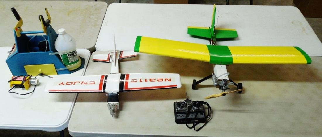 Lot of 2 Contemporary Gas Powered Toy Airplanes