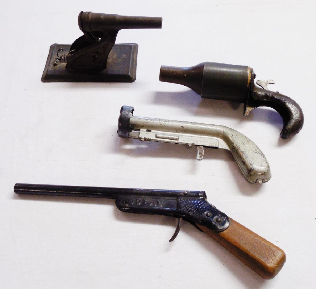 Lot of 3 Toy Guns and 1 Tin Cannon
