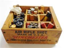 Winchester Air Rifle Shot Wooden Divided Box