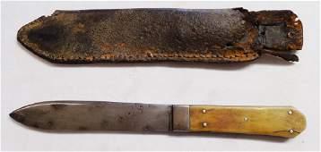 Fixed Blade Lamb Washington City Knife with Sheath