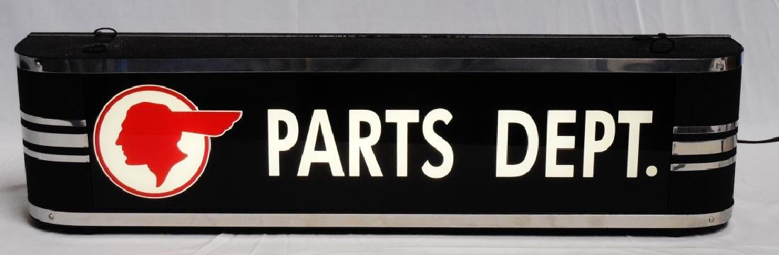 Electric Sign Pontiac Parts Dept. Works