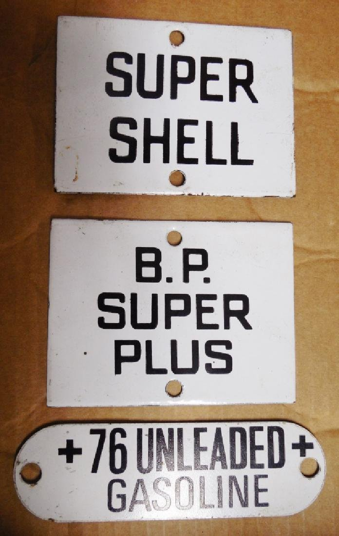 Lot of 3 Pump Plates 2 Porcelain/1 Aluminum