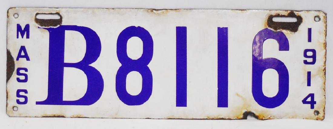 1914 Mass. License Plate