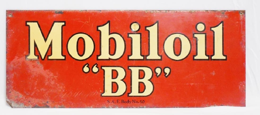 "Mobil Oil ""BB"" Sign"