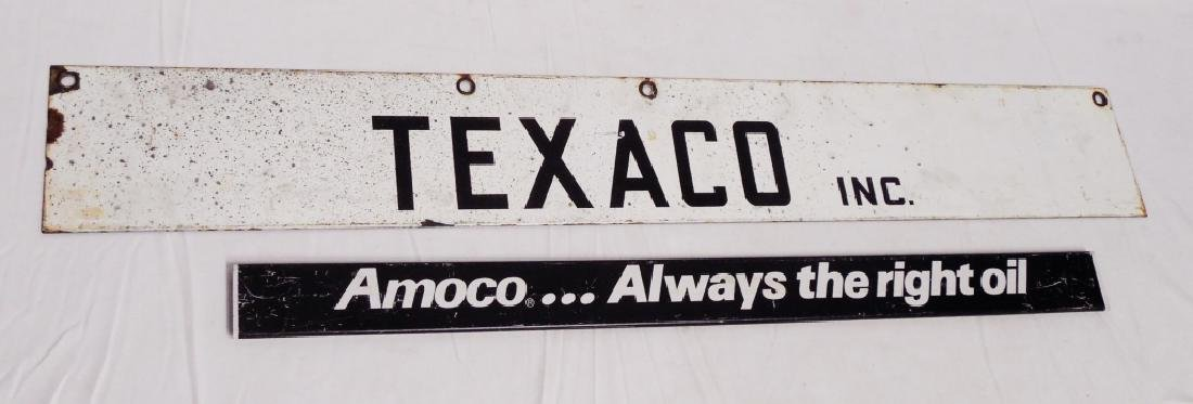 Lot of 2 Signs Texaco Inc. and Amoco